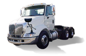 IC 8600 series Truck with Mirror Lite's High Definition Cross-View Mirror Assembly
